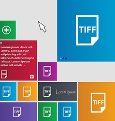 TIFF Icon sign buttons Modern interface website vector