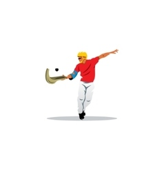 Traditional Spanish pelota sport sign Jai alai vector
