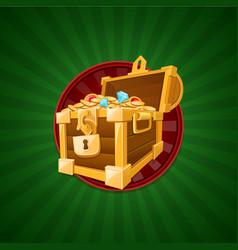 treasure concept treasure chest vector image