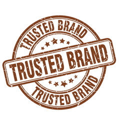 trusted brand stamp vector image