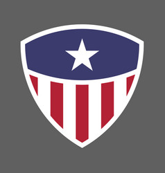 Usa flag shield icon logo vector