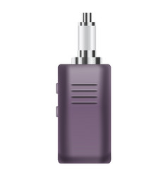 vape device icon realistic style vector image