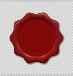 Wax seal on transparent background vector