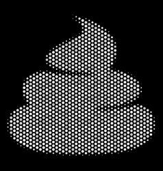 White halftone crap icon vector