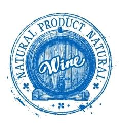 wine logo design template oak barrel or vector image