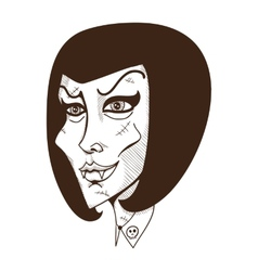 Woman witch face vector
