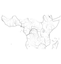 World map equatorial africa region central vector