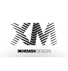 Xm x m lines letter design with creative elegant vector