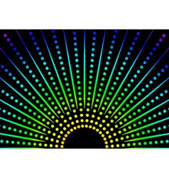 Dotted Rainbow Background vector image vector image
