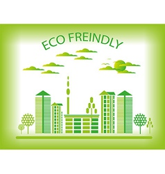 Eco friendly city background vector image