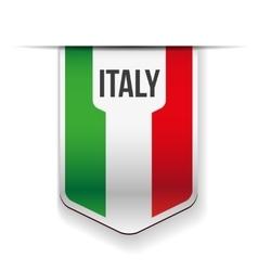 Italy flag ribbon vector image