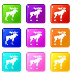 Moose set 9 vector