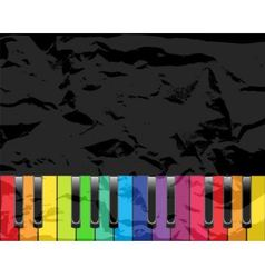 Piano with multicolored keys vector image