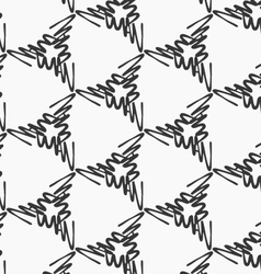 Scribbled strokes forming triangles on white vector image vector image