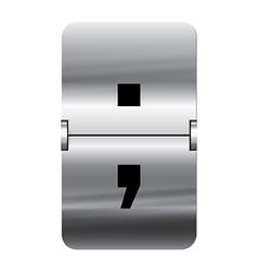 Alphabet silver flipboard letters semicolon vector image vector image