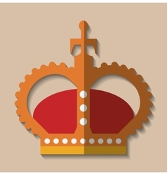Crown king gold design vector