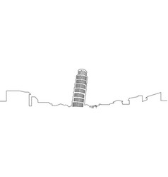 isolated pisa cityscape vector image vector image