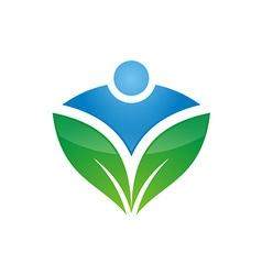 Leaf icon logo design vector