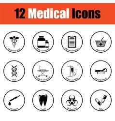 Medical icon set vector image vector image