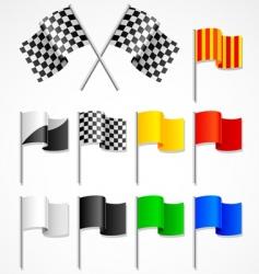 sport flag vector image
