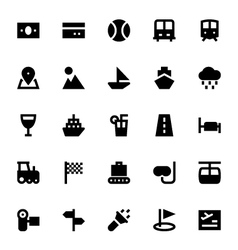 Tourism and travel icons 4 vector