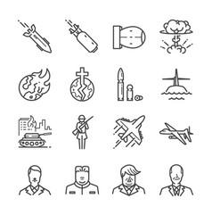 world war icon set vector image