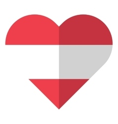 Austria flat heart flag vector image