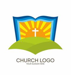 bible sun and cross vector image
