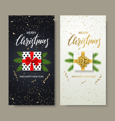 merry christmas and happy new year backgrounds for vector image