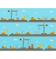 seamless horizontal background with vector image