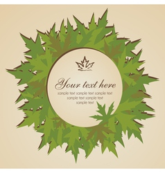 Banner with leaves vector image vector image