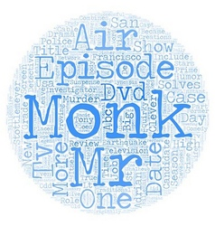Monk DVD Review text background wordcloud concept vector image vector image