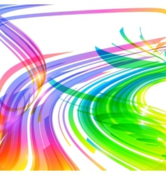 Rainbow colors abstract lines background vector image vector image