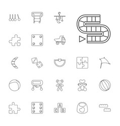 22 toy icons vector