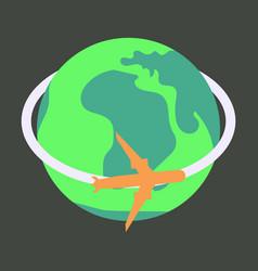 Aircraft world icon vector