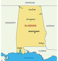 Alabama - map vector image