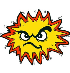 Angry freehand drawn cartoon explosion sign vector