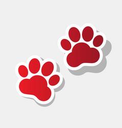 animal tracks sign new year reddish icon vector image