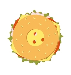 Bagel sandwich vector
