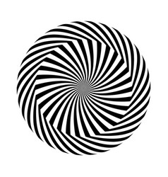Black and white round abstract vector