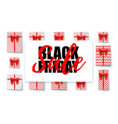 black friday sale sales banner with design vector image