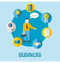 Business flat concept design vector