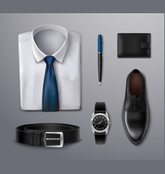 Businessman apparel accessories vector