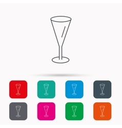 Champagne glass icon Goblet sign vector image