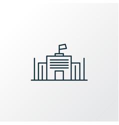 City governance icon line symbol premium quality vector
