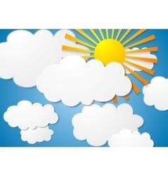 Cloudscape with sun vector