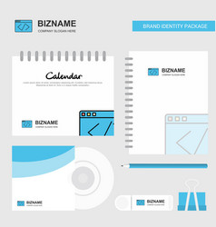 code logo calendar template cd cover diary and vector image