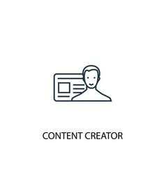 Content creator concept line icon simple element vector