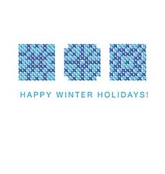 cross winter2 vector image