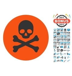 Death Icon with 2017 Year Bonus Pictograms vector
